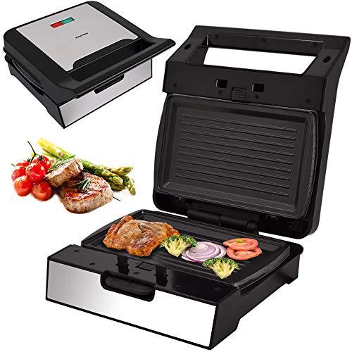 Syntrox Germany Kontaktgrill Grill MM-1400W mit herausnehmbaren Backplatten