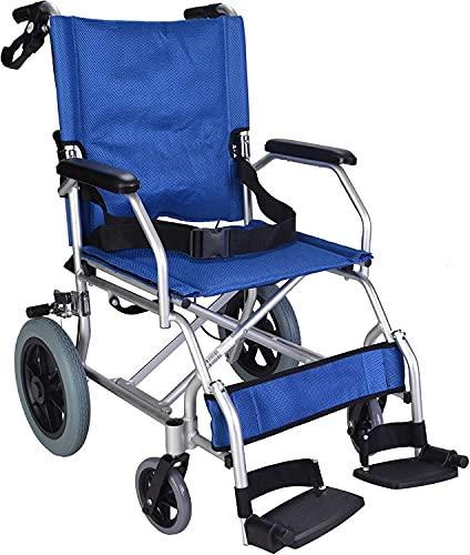 Jupiter Equipment Comfort Pneumatic Wheel Regular Folding Manual Wheelchair with Safety Belt (Black)