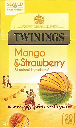 Twinings Strawberry & Mango, 20 Btl. 40g - Erdbeer & Mango Geschmack