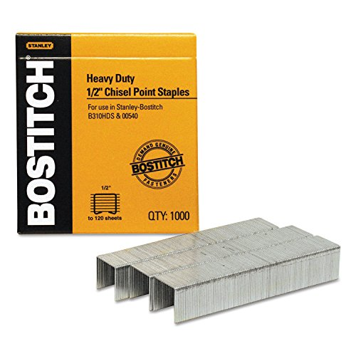 Bostitch Office BOSSB35121M - Grapas de alta resistencia, uso en B310HDS, 00540, 1/2 W, 1/2 L