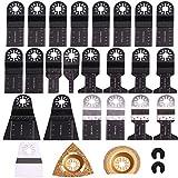 25 hojas de sierra Kit Multitool Oscilierwerkzeugzubehör Mix cuchillas Set para Fein Multimaster, Milwaukee, Makita, Dewalt, Einhell
