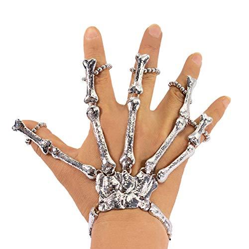 Oblique Unique® Skelett Hand Knochen für Halloween Fasching Karneval Party Verkleidung Kostüm Zubehör Accessoire