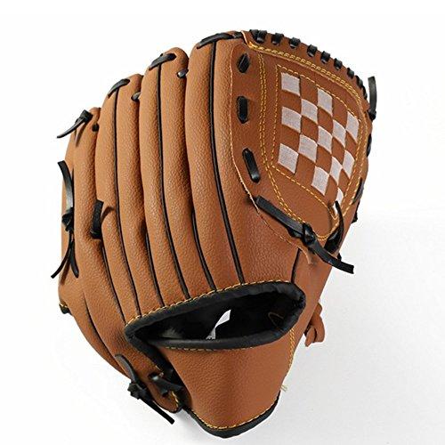Yxaomite Baseball Handschuhe Krug Handschuhe Outdoor Leder Erwachsene für Senior Junior Kinder Softball Batting Handschuhe Sport Field Master Series-Braun-S