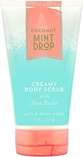 Bath and Body Works Coconut Mint Drop Creamy Body Scrub with Shea Butter, 8 Ounce