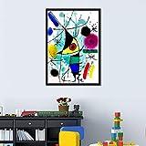 Der singende Fisch von Joan Miro Abstrakte Kunst Wandkunst
