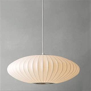Chandeliers Modern, White Silk Chandeliers for Living Room Restaurant Bedroom Suspension Lamp Creative Window Art Pendant Lights, Type of Bulb: E27 60W (Saucer)