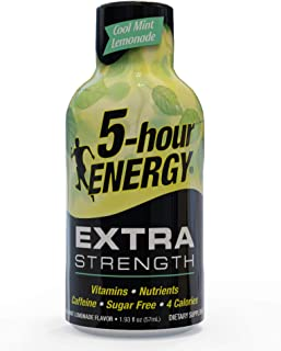 5-hour ENERGY Shot, Extra Strength Cool Mint Lemonade, 1.93 Ounce, 24 Count