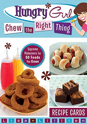 Hungry Girl Chew the Right Thing Recipe Cards: Supreme Makeovers for 50 Foods You Crave by Lisa Lillien (8-Dec-2009) Card Book