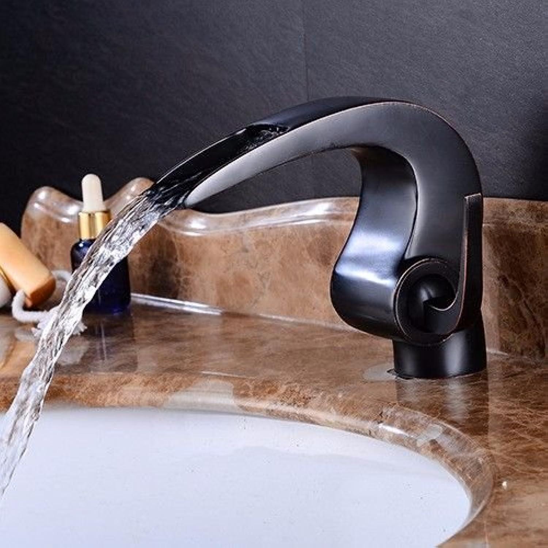 ETERNAL QUALITY Badezimmer Waschbecken Wasserhahn Messing Hahn Waschraum Mischer Mischbatterie Tippen Sie auf die Wasserhhne Retro heiss & kalt Wasser fllt Wasser Mixer