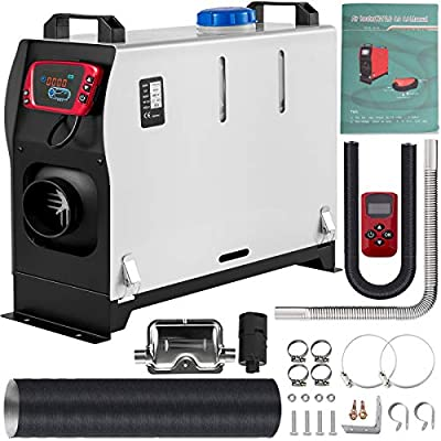 VEVOR Diesel Air Heater All In one, One Air Outlet, 8KW Diesel Heater 12V, Fast Heating, Diesel Parking Heater with Red LCD Switch, Remote Control For Car, RV Truck, Boat, Campervans and Caravans