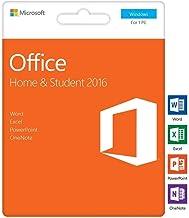 Microsoft Office 2016 Hogar y Estudiantes | Clave de activación en la caja | Microsoft Word Excel PowerPoint OneNote para Windows 10 Windows 8 Windows 7 | Microsoft Office 2016 Home and Student PC