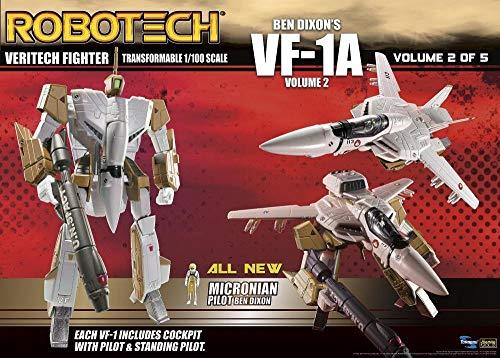 Toynami Robotech VF-1A Transformable Veritech Fighter Collection 1/100 Escalera Ben Dixon