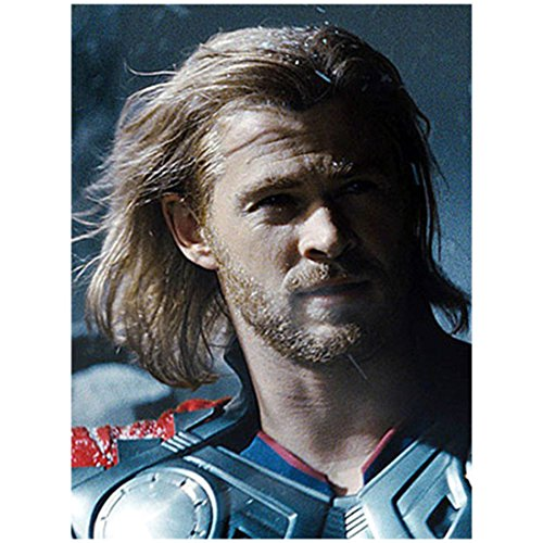 Chris Hemsworth 8x10 Photo Thor/Avengers Thor Headshot Half Shade Wind Blown Hair kn