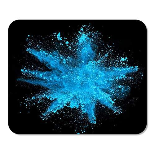 25X30cm Gaming Mauspad Mouse Mat Farbexplosion von blauem Pulver auf
