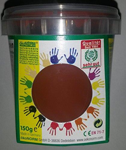 ökoNORM nawaro Fingerfarbe braun, 150g