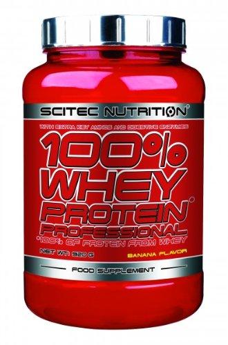 Scitec Nutrition 100{e5f3260c2b693d29daa19e6b0dd9954343be18416ab26298abf24a6056e80e16} Whey Protein Professional 920 g Banane