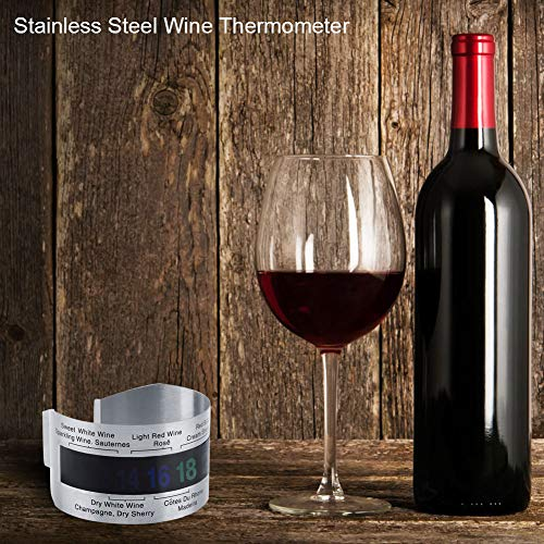 A sixx Wine temperature bracelets, compact wine bottle thermometers, restaurant bar tools for household bar accessories