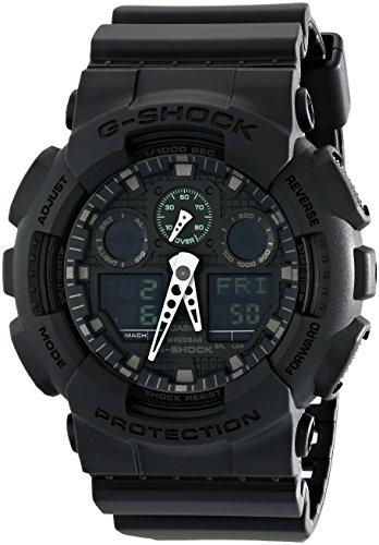 Casio Men's G-Shock GA100MB-1A Black Rubber Japanese Quartz Sport Watch