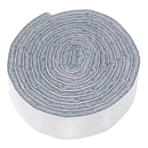 Adsamm® | selbstklebendes Filzband zum Zuschneiden | 19x1000 mm | Grau | Rolle | 3.5 mm starker selbstklebender Filzzuschnitt in Top-Qualität