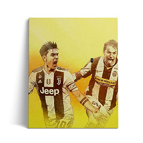 Pintura de diamante 5D de bricolaje por kits de números Juventus FC Pintura de bordado de diamantes de taladro completo 30x40cm,Without Frame