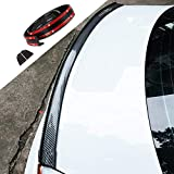 LucaSng Universal Black Carbon Fiber Trunk Spoiler Lip Kit Car Rear Spoiler Exterior Rear Spoiler Kit Universal Fits for Most Cars Punch-Free Installation (Carbon Black long150cm)