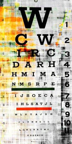 Parvez Taj 30 by 15-Inch Eye Chart Canvas Ready to Hang Artw...