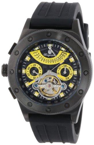 Burgmeister Armbanduhr für Herren mit Analog Anzeige, Automatik-Uhr und Silikonarmband - Wasserdichte Herrenuhr mit zeitlosem, schickem Design - klassische Uhr für Männer - BM172-622D Freeport
