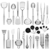 Best Choice Products 29-Piece Stainless Steel Kitchen Cookware Utensils Set w/Spatulas, Can and...