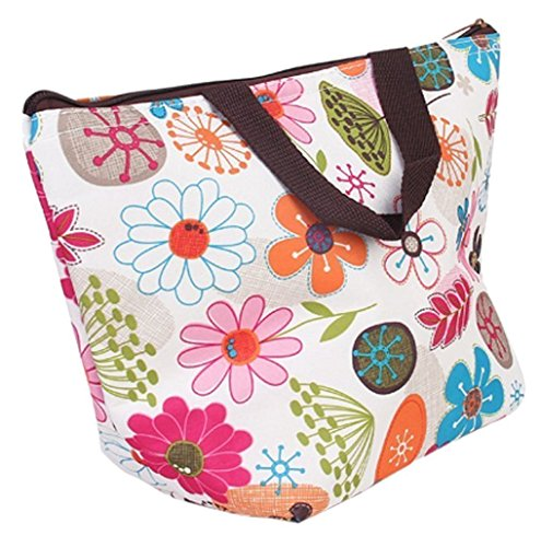 Xuxuou Oxford Lunch Bag Lunchpaket Thermal Insulated Kühltasche Lunch Pouch Picknickkorb Box Wasserdicht Lunchpaket Wasserdicht Tote Handtasche Cooler Sacks Tote Handtasche