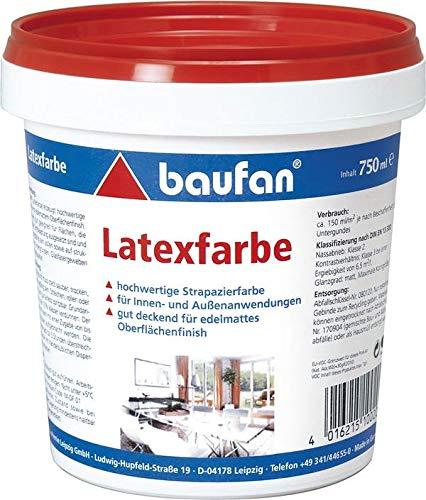 Baufan - Latexfarbe weiss - 0,75 Liter