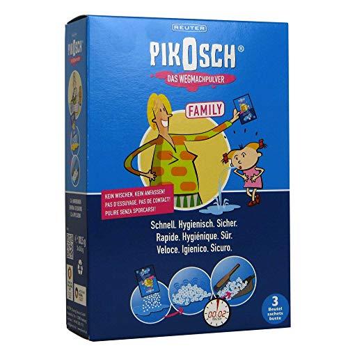 PIKOSCH - Das Kotz Pulver - Spezialreiniger - Flüssigkeitsabsorber für Mensch und Haustier - Erbrochenes, Urin, Kot, Blut und Wasser ohne Ekel 3er Pack