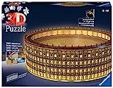 Ravensburger 11148 Puzzle 3D Colosseo, Edición Nocturna, 216 Piezas, Multicolores, Edad Recomendada 10+, Dimensiones Finales 32x26x10 cm