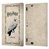 Head Case Designs Oficial Harry Potter Búho Hedwig Prisoner of Azkaban III Carcasa de Cuero Tipo Libro Compatible con Amazon Kindle Fire HDX 8.9