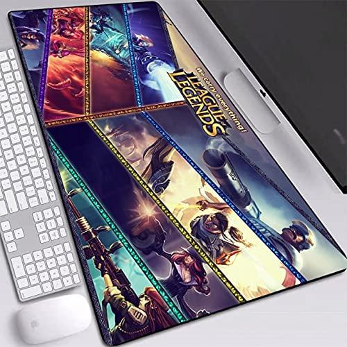 Gaming LOL-Mauspads HD-Muster gedruckt groß High-Quantity Rubber Base Gaming-Schreibtischmatte 800x400mm XXL für Spiele - Muster10,700x300x2mm