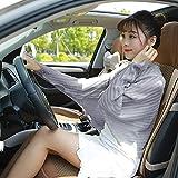 feiren Nueva señora plegable de gasa para protección solar ropa con volantes, bufandas increíbles para el verano al aire libre, puño protector solar (color: gris)