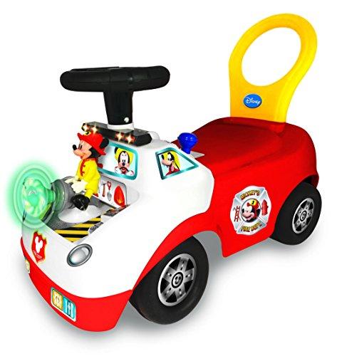 Kiddieland Disney Mickey Activity Fire Truck Ride-On