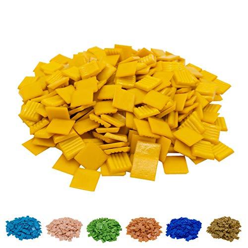 Mozaïek-professionele mozaïekstenen in verschillende Kleuren (2 x 2 cm, 900 g, ca. 340 st.) - kleurrijke mozaïek ideaal om te knutselen - glasmozaïek - geen plastic verpakking Oranje 1