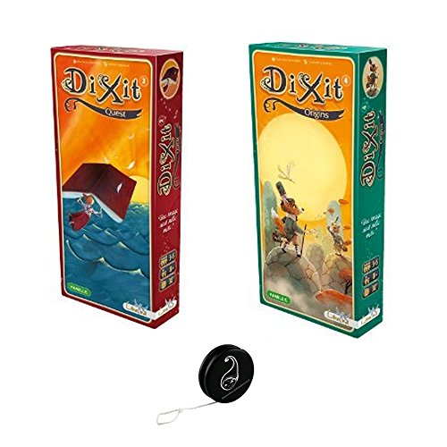 Lot de 2 Extensions DIXIT : Origins + Quest + 1 Yoyo Blumie