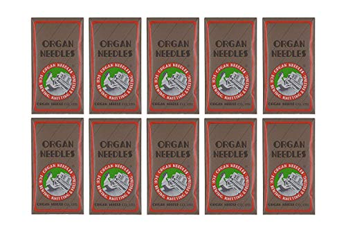 100 ORGAN FLAT SHANK 15X1 HAX1 HOME SEWING MACHINE NEEDLES - SIZE #100/16