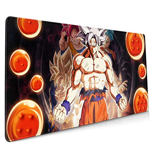 Extended Mouse Pad - Goku Dragon Ball XXL Gaming Computer Mousepad 35.43 X 15.75 X 0.12inch