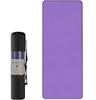 Roeam Yoga Mats,Tapis Yoga Pilates Mat 10mm Thick Yoga Mat 72 x24 x 0.4 Inch Non-Slip Yoga Mat for Men Women Fitness Gym E...