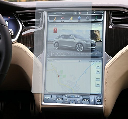 Topfit Tempered Glass Model S&X Touch Screen Protector Compatible for Tesla Model S and Model X (clear)