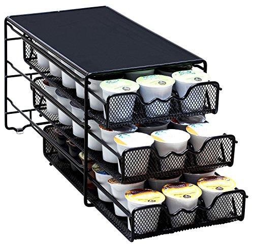 k cup storage solutions DecoBros 3 Tier Drawer Storage Holder 54 Keurig Coffee Pod
