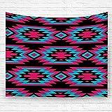 Leisure-Time Tapiz Colgante, Motivos étnicos Americanos Decorativos Patrón Azteca Orname Tribal Colcha Toallas de Playa 60 'X80'