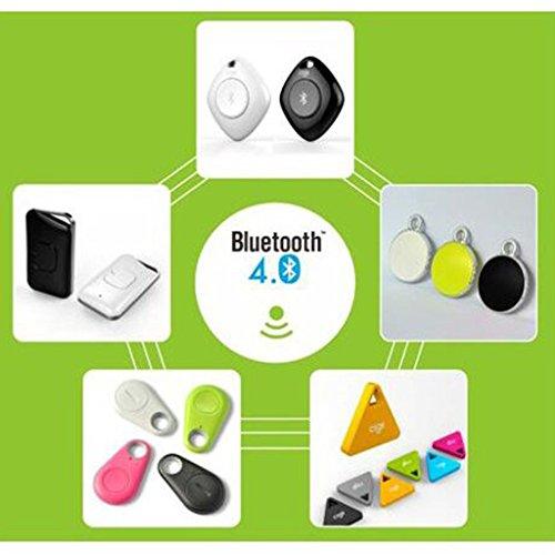 gazechimp Bluetooth 4.0GPS Smart Tracker Anti de pérdida de alarma Locator Tracer para iOS & Android Negro