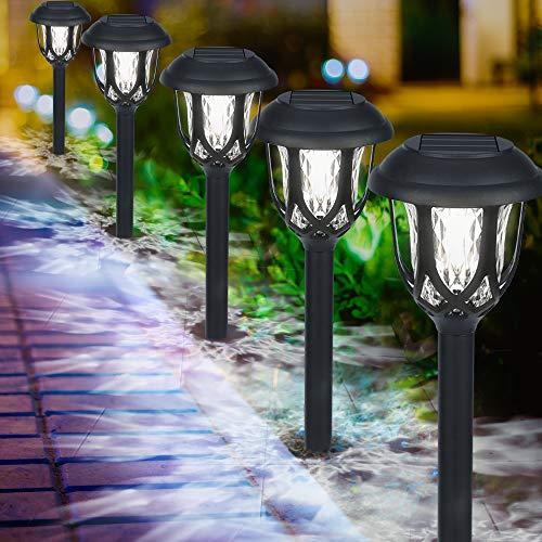 Luces Solares Jardín, IP65 LED Lamparas Solares Jardín, Energía Solar Luces Jardín Impermeable,...