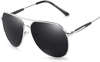 SGJFZD Round Outdoor Seaside Sunscreen UV400 Ladies' Polarized Sunglasses Sporting Large Frame Elegant Sunglasses Vintage Retro (Color : Silver)