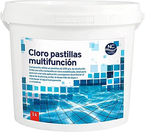 MSU - Cloro Multiacción para Piscina en Pastillas 5 Kg | Fabricado en España | Multifunción – Cloro – Algicida – Floculante