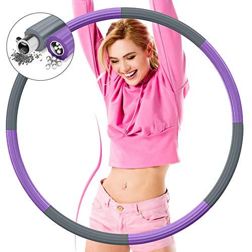 DUTISON Hoop Reifen Erwachsene Fitness 1,2 kg, Verbesserter 8 Knoten Reifen mit Edelstahlkern, Verdickter Schaum, Einstellbares Gewicht, Abnehmbares Design, für Gewichtsreduktion/Fitness