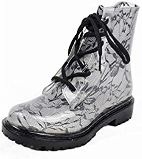 Jelly Jolly London Boots and Sock Bundle Black Sole - Transparent Boots